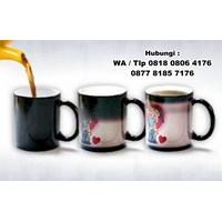 Jual Mug Bunglon Foto Sablon Digital Mug Promosi Magic  2