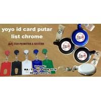 Distributor  Barang Promosi Perusahaan Yoyo Id Card Putar List Chrome  3