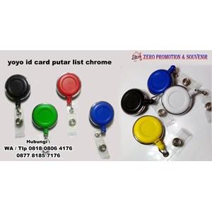 Barang Promosi Perusahaan Yoyo Id Card Putar List Chrome