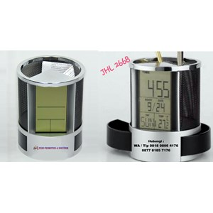 Jam Promosi Pen Holder Desk Clock Jhl 2668
