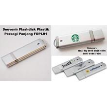 Souvenir  Usb Flash Disk Plastik Persegi Panjang F
