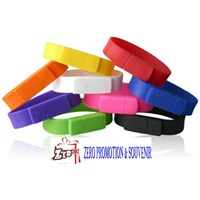 Distributor  Barang Promosi Perusahaan Souvenir Usb Flashdisk Gelang Silicone Fdbr01  3