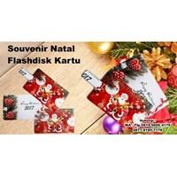Souvenir Natal Flashdisk Kartu Barang Promosi Perusahaan
