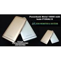Barang Promosi Perusahaan Powerbank Metal 10000 M