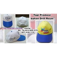 Souvenir Topi Promosi Bahan Drill Royal