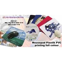 Barang Promosi Perusahaan Mousepad Plastik Pvc Printing Full Colour