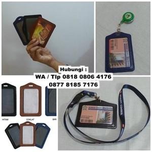 Id Card Holder Semi Kulit Barang Promosi Perusahaan
