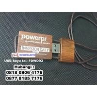 Distributor Barang Promosi Perusahaan Usb Kayu Tali Fdwd03 Flashdisk Kayu Tambang  3