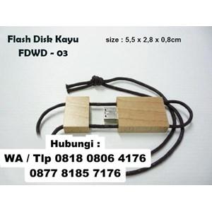 Barang Promosi Perusahaan Usb Kayu Tali Fdwd03 Flashdisk Kayu Tambang