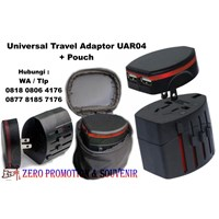 Jual Barang Promosi Perusahaan Universal Travel Adapter Uar04 Pouch 2