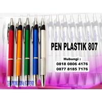 Distributor  Barang Promosi Perusahaan Pulpen Seminar 807 Pen Promosi Plastik 807  3