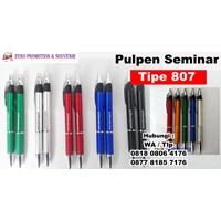 Barang Promosi Perusahaan Pulpen Seminar 807 Pen Promosi Plastik 807  1