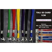 Tali Id Card 1 Cm Sarung Lanyard 1 Cm  Barang Promosi Perusahaan 1