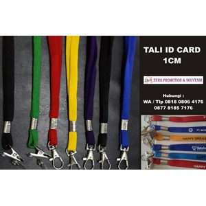 Tali Id Card 1 Cm Sarung Lanyard 1 Cm  Barang Promosi Perusahaan