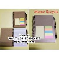 Souvenir Memo Recycle Pen Post It  Agenda Promosi