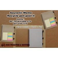 Jual Souvenir Memo Recycle Pen Post It  Agenda Promosi 2