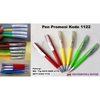 Barang Promosi Perusahaan Pulpen Plastik Putar Promosi Kode 1122  1