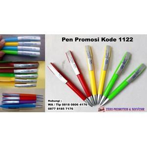 Barang Promosi Perusahaan Pulpen Plastik Putar Promosi Kode 1122
