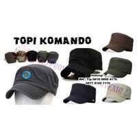 Distributor Topi Promosi Komando Souvenir Commando Hats Model Topi Kotak 3