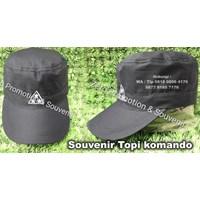 Jual Topi Promosi Komando Souvenir Commando Hats Model Topi Kotak 2