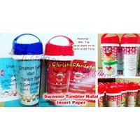 Distributor Barang Promosi Perusahaan Souvenir Tumbler Natal Insert Paper 3