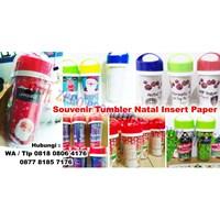 Jual Barang Promosi Perusahaan Souvenir Tumbler Natal Insert Paper 2