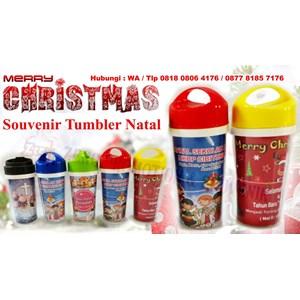 Barang Promosi Perusahaan Souvenir Tumbler Natal Insert Paper