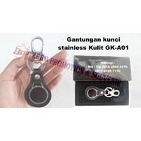 Souvenir Gantungan Kunci Stainless Kulit Gk-A01 1