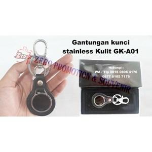 Souvenir Gantungan Kunci Stainless Kulit Gk-A01