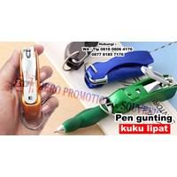 Jual Barang Promosi Perusahaan Pen Gunting Kuku Lipat Pulpen Promosi 2