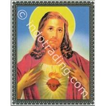 Panel Gambar Hati Yesus Ukuran 60X75 Cm
