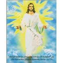 Panel Gambar Yesus Naik Surga Ukuran 60X75cm