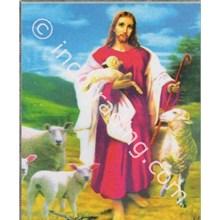 Panel Gambar Yesus Gembala Ukuran 60X75cm