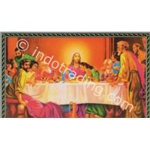 Panel Gambar Perjamuan Kudus Ukuran 75X100cm