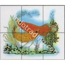 Panel Gambar Ikan Arwana Ukuran 60X50cm