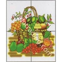Panel Kotak 4 Gambar Fruity 11 Ukuran 40X50cm