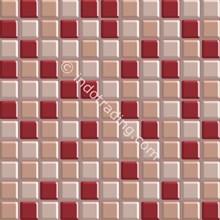 Keramik Mozaik Kaca Ukuran 30 X 30 Merah