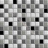 Keramik Mozaik Kaca Ukuran 30 X 30 Hitam