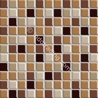 Keramik Mozaik Kaca Ukuran 30X30 Cokelat Muda