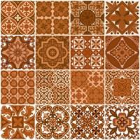 Lantai Keramik Cokelat Bermotif