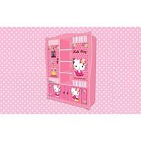 Jual Wardrobe Lemari Pakaian Anak Karakter Hello Kitty Smile Heart BLH HK 7002