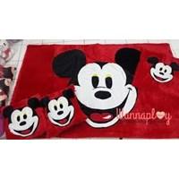 Jual Karpet Set Bulu Mickey (Bahan Lokal)