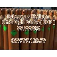 Tabung + Gas Helium kemurnian tinggi Ultra (Uhp) 99.9995%