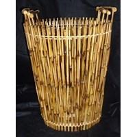 Jual Bamboo Round Laundry Hamper