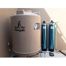 2 tabung filter frp lapis seteless steel 1054 + tandon penguin 1000 liter + pompa shimizu 125 watt