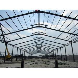 Konstruksi baja untuk bangunan pabrik dan pergudangan By CV. Yani Surya