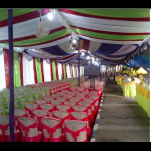 perlengkapan dekorasi tenda.