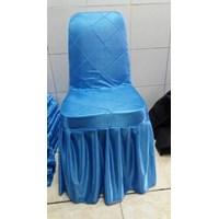 Sarung kursi Futura rempel warna biru