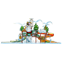 Snow Cove Antarctic Theme SDI-302 Water Park Structure Designs