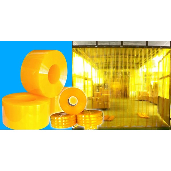 Yellow PVC Blinds Curtain